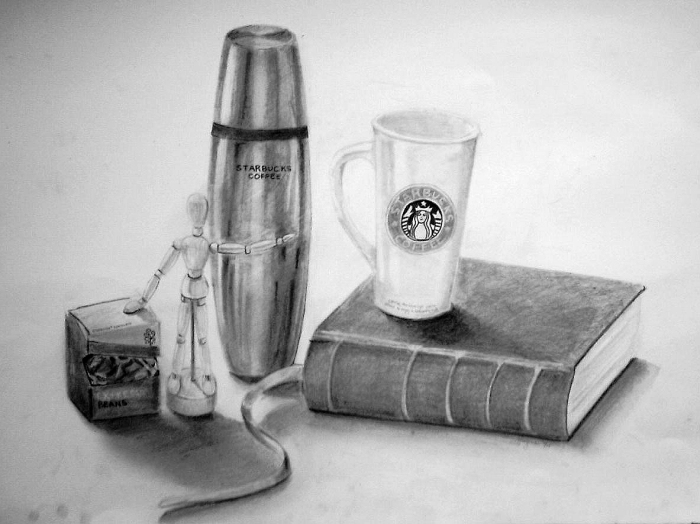 Throwback thursday still life pencil drawing