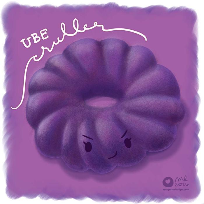 DonutSketch_UbeCruller