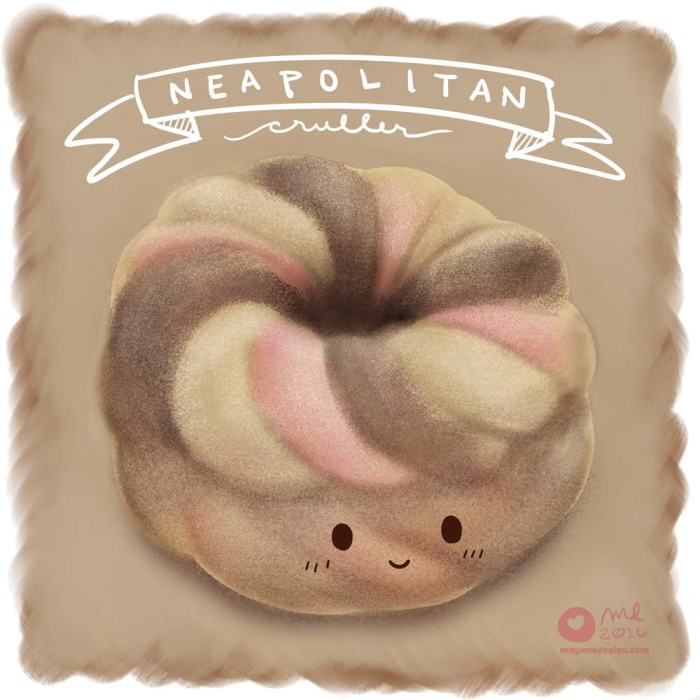 DonutSketch_NeapolitanCruller